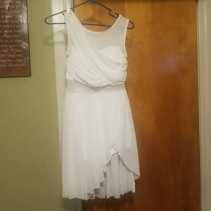 Lyrical dance outfit in white